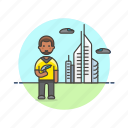 african, american, colony, male, science, space, star, technology, trek icon
