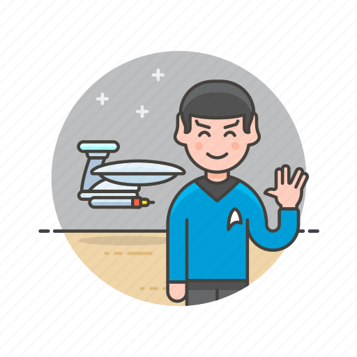 colony, man, science, space, star, technology, trek, wave icon