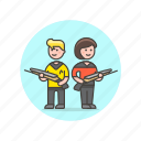 trek, star, science, space, gun, technology, couple, wield