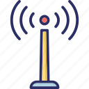 wifi tower, signal tower, wireless antenna, antenna, wifi icon