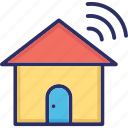 home, home automation, internet, smart home, wifi icon