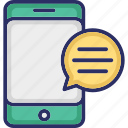 chat bubble, chatting, mobile, sms, text message icon