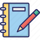 notebook, notepad, notes, pencil, writing icon