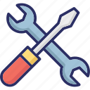 maintenance, repair, screwdriver, spanner, wrench icon