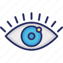 eye, look, observe, see, watch icon