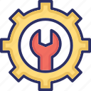 cog, cogwheel, maintenance, spanner, wrench icon