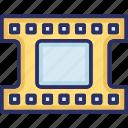 camera reel, cinema, film, film reel, media icon