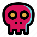 dead, death, halloween, head, horror, skeleton, skull