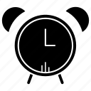 alarm, alert, attention, clock, science icon