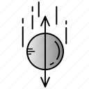 acceleration, diraction, force, physics, science icon