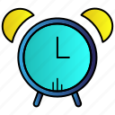 alarm, alert, attention, clock, science icon