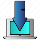 connection, download, network, science icon