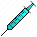 injection, medical, science, syringe, vaccine icon