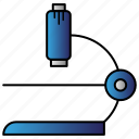 eyepiece, laboratory, magnifier, microscope, science icon