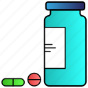 druge, medicine, pills, science icon