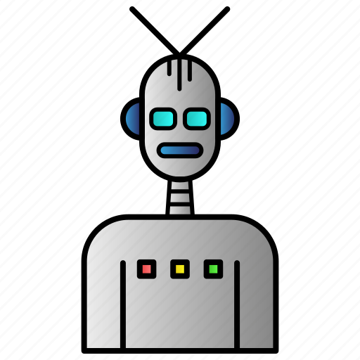 intelligence, robot, science, technology icon
