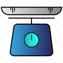 balance, machine, scale, science, weight icon