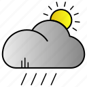 cloud, network, science, weather icon