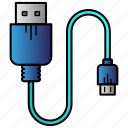 charger, computer, connector, data, plug, science icon