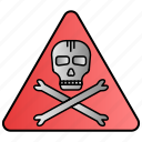 danger, high, science, sign, voltage, warning icon