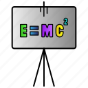 einstein, emc2, energy, equivalence, formila, mass, science icon
