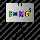 einstein, emc2, energy, equivalence, formila, mass, science icon