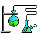 experiment, flask, laboratory, science, test icon