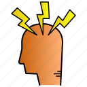 headache, pain, science, sick, stress icon