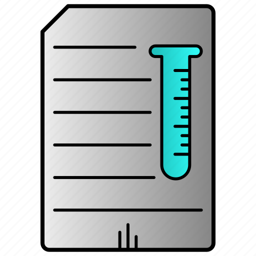 clipboard, document, report, science icon