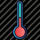 degree, diagnostic, medical, science, temperature icon