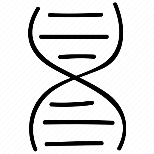 dna, dna chain, helix, medical icon