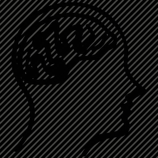 brain, head, human, mind icon