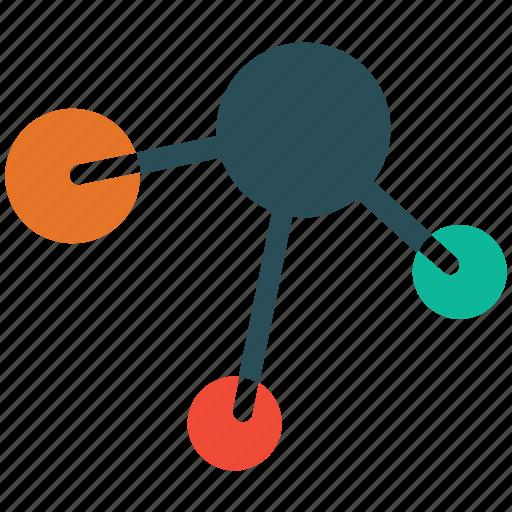 molecular, molecule, research, science icon