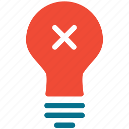 bulb, light, light bulb, switch off icon