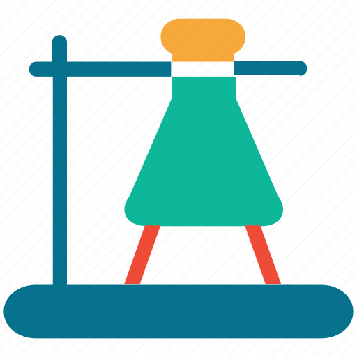 experiment, flask, flask stand, laboratory icon