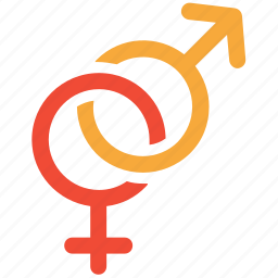 both sexes, male and female, relationship, sign icon
