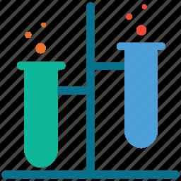 flask, lab test, laboratory, test icon