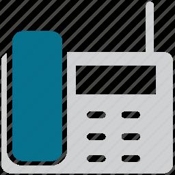 phone, telephone, telephone set, wireless icon