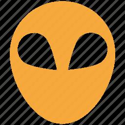 alien head, avatar, face, mask icon