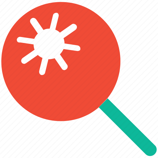 bacteria, find, magnifier, magnifying icon