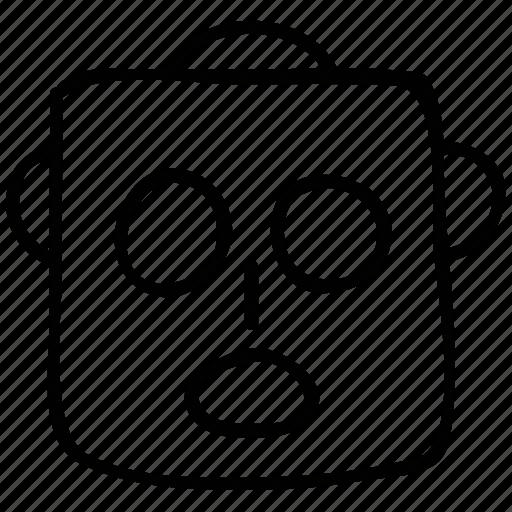 avatar, face, robot, robot head icon