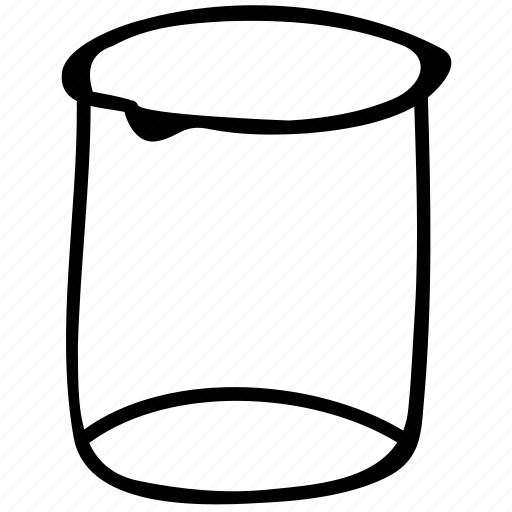 beaker, laboratory, measurement, measuring cup icon