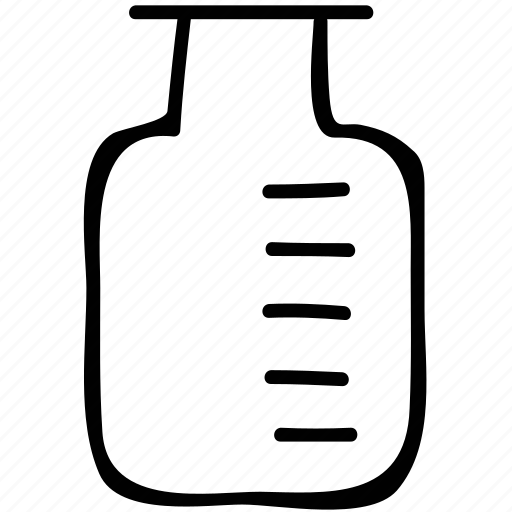 jar, lab equipment, measure, measuring icon