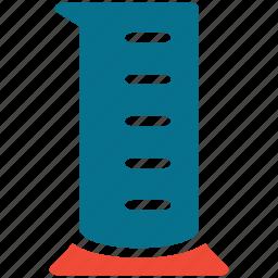 lab, lab equipment, measuring cup, measuring jar icon