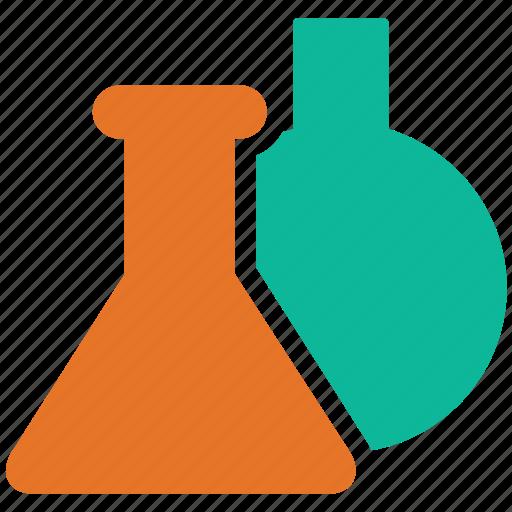 beakers, lab, lab equipment, test tubes icon
