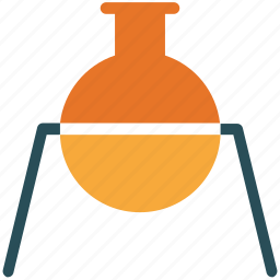 acid, analysis, beaker, flask icon