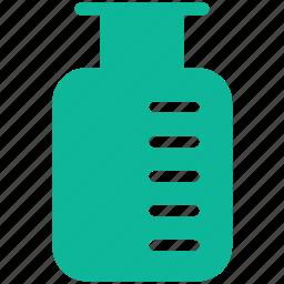 jar, lab equipment, measurement, measuring jar icon