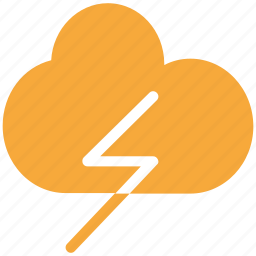 clouds, flash, storm, thunder icon