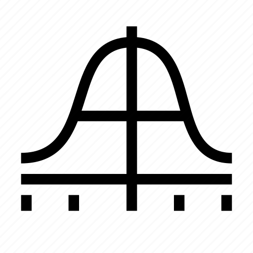 bell curve, curve, graph, statistics, stats icon