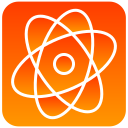 atom, scientific icon